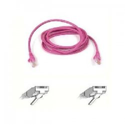 Belkin / Linksys - A3L791-10-PNK-S - Belkin - Patch cable - RJ-45 (M) to RJ-45 (M) - 10 ft - UTP - CAT 5e - booted, snagless - pink - for Omniview SMB 1x16, SMB 1x8, OmniView SMB CAT5 KVM Switch