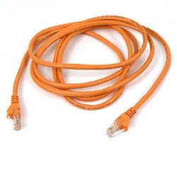 Belkin / Linksys - A3L791-15-ORG-S - Belkin Cat5e Patch Cable - RJ-45 Male - RJ-45 Male - 15ft - Orange