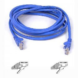 Belkin / Linksys - A3L791-30-BLU-S - Belkin Cat5e Patch Cable - RJ-45 Male - RJ-45 Male - 30ft - Blue