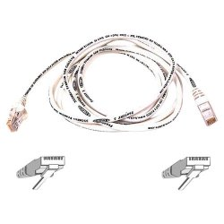 Belkin / Linksys - A3L980-20-WHT-S - Belkin 20ft CAT6 Ethernet Patch Cable Snagless, RJ45, M/M, White - Patch cable - RJ-45 (M) to RJ-45 (M) - 19.7 ft - UTP - CAT 6 - molded, snagless - white - B2B - for Omniview SMB 1x16, SMB 1x8, OmniView SMB CAT5 KVM