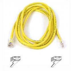 Belkin / Linksys - A3L980-20-YLW-S - Belkin High Performance - Patch cable - RJ-45 (M) to RJ-45 (M) - 20 ft - UTP - CAT 6 - molded, snagless - yellow - B2B - for Omniview SMB 1x16, SMB 1x8, OmniView SMB CAT5 KVM Switch