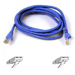 Belkin / Linksys - A3L980-30-BLU-S - Belkin Cat. 6 UTP Patch Cable - RJ-45 Male - RJ-45 Male - 30ft - Blue