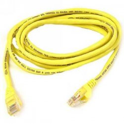 Belkin / Linksys - A3L980-30-YLW-S - Belkin High Performance - Patch cable - RJ-45 (M) to RJ-45 (M) - 30 ft - UTP - CAT 6 - molded, snagless - yellow - for Omniview SMB 1x16, SMB 1x8, OmniView SMB CAT5 KVM Switch