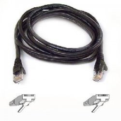 Belkin / Linksys - A3L980-35-BLK-S - Belkin Cat6 Cable - RJ-45 Male - RJ-45 Male - 35ft - Black