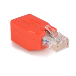 StarTech - C6CROSSOVER - StarTech.com Crossover adapter - RJ-45 (M) - RJ-45 (F) - Gigabit - ( CAT 6 ) - red - 1 x RJ-45 Male - 1 x RJ-45 Female - Red