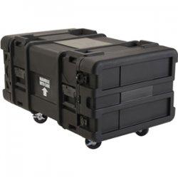 "SKB Cases - 3SKB-R906U30 - SKB 6U Roto Shock Rack - Internal Dimensions: 19"" Width x 34.50"" Depth x 10.50"" Height - 78.55 gal - Hinged, Latching Closure - Stackable - Polyethylene - Black - For Rack Device"