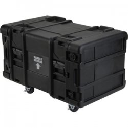 "SKB Cases - 3SKB-R908U30 - SKB 8U Roto Shock Rack - Internal Dimensions: 19"" Width x 34.50"" Depth x 14"" Height - 34.55 gal - Hinged, Latching Closure - Stackable - Polyethylene - Black - For Rack Device"