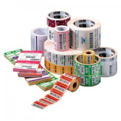 "Zebra Technologies - 10009528 - Zebra Label Paper 3 x 1in Thermal Transfer Zebra Z-Select 4000T 1 in core - 3"" Width x 1"" Length - 2580/Roll - 1"" Core - 6 / Carton - Bright White"