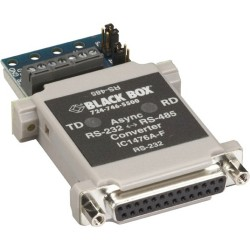 Black Box Network - IC1476A-F - Black Box RS-232 to RS-485 Converter, DB25F to Terminal Block - Serial Port