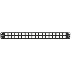 Black Box Network - JPMT1036A - Black Box GigaStation2 JPMT1036A High-Density 36-Port Multimedia Patch Panel - 36 - 36 Port(s) - 1U High - Rack-mountable