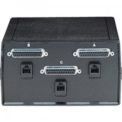 Black Box Network - SW184A - Black Box ABC Dual Switch, DB25 and DB25 for RS-232, Chassis Style B - 3 x Serial Port