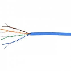 Comprehensive Cable & Connectivity - C5EP350B-1000 - Comprehensive Cat 5e Plenum 350MHz Solid Blue Bulk Cable 1000ft - Category 5e for Network Device - 1000 ft - Bare Wire - Bare Wire - Blue