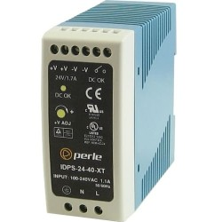 Perle Systems - 07012030 - Perle IDPS-24-40-XT Proprietary Power Supply - 110 V AC, 220 V AC Input Voltage - DIN Rail - 40 W