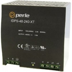 Perle Systems - 07012040 - Perle IDPS-48-240-XT Proprietary Power Supply - 110 V AC, 220 V AC Input Voltage - DIN Rail - 240 W