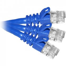 CP Tech / Level One - C6-BL-07-M-CS - ClearLinks 07FT Cat. 6 550MHZ Blue Molded Patch Cable PK - 7ft - Blue