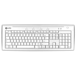 MACALLY - IKEY5U2 - Macally iKeySlim Mac Keyboard - USB - 104 Keys - White