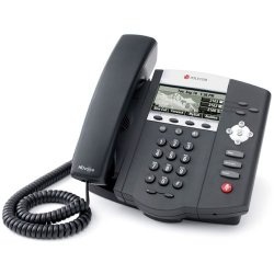 Polycom - 2200-12450-001 - Polycom SoundPoint IP450 Phone - 1 x RJ-9 Headset, 2 x RJ-45 10/100Base-TX - 3Phoneline(s) - Desktop