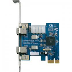 Global Marketing Partners - 1213 - Unibrain FireBoardBlue-e 1213 FireWire Adapter - PCI Express - 2 Firewire Port(s) - 2 Firewire 400 Port(s)