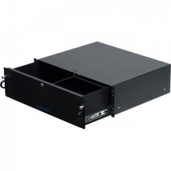 Rack Solution - 2UDRAWER-162 - Rack Solutions 2U Lockable Rackmount Drawer - 2U Wide Rack-mountable - Black Powder Coat - 100 lb x Maximum Weight Capacity