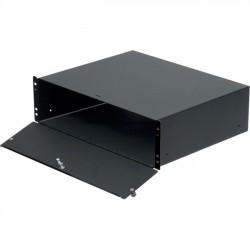 Rack Solution - 4UBOX-161 - Rack Solutions 4U Lockable Rackmount Box - 4U Wide Rack-mountable - Black Powder Coat - 100 lb x Maximum Weight Capacity