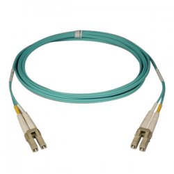 Tripp Lite - N820-122M - Tripp Lite Fiber Optic Duplex Cable - LC Male Network - LC Male Network - 400.26ft - Aqua