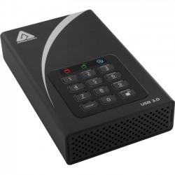 Apricorn - ADT-3PL256-6000 - Apricorn Aegis Padlock DT 6 TB External Hard Drive - Desktop - USB 3.0 - 8 MB Buffer
