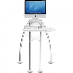 Rain Design - 12003 - Rain Design iGo - Sitting Model for iMac 24/27 - 24 to 27 Screen Support - 30 Height x 29 Width x 30 Depth - Floor Stand - Polished Chrome