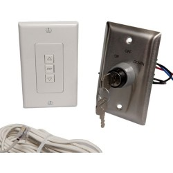 Draper - 121179 - Draper ILT Single Station Low Voltage Key Wall Switch - Key Switch - Projector Screen