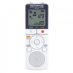 Olympus - V404120WU000 - Olympus VN-7100 Digital Voice Recorder (Reconditioned) - 500 HourspeaceRecording Time - Portable