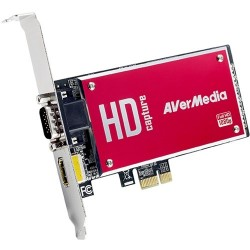 AverMedia - C729-AJ - AVerMedia DarkCrystal HD Capture SDK II - Functions: Video Capturing, Video Recording - PCI Express - 1920 x 1080 - NTSC, PAL - H.264 - VGA - PC - Plug-in Card