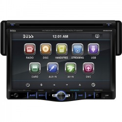 Boss Audio Systems - BV8970B - BOSS AUDIO BV8970B Single-DIN 7 inch Touchscreen DVD Player, Receiver, Bluetooth, Detachable Front Panel, Wireless Remote - Plays   CD?R/RW, DVD?R/RW, MP3/DVD/CD/USB/SD
