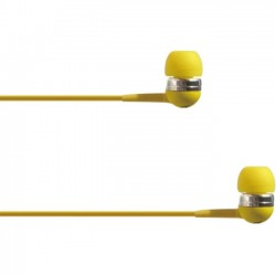 4xem - 4XIBUDYL - 4XEM Ear Bud Headphone Yellow - Stereo - Yellow - Mini-phone - Wired - 16 Ohm - 20 Hz - 18 kHz - Earbud - Binaural - In-ear - 3.75 ft Cable