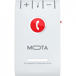 Mota / UNorth - MT-BTSPKW - TAMO HD+ Bluetooth 4.0 Handsfree Car Kit for Multi Device - White - Bluetooth