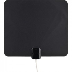 Voxx - ANT1100Z - RCA Ultra-Thin HDTV Antenna - Multi-Directional - Upto 40 Mile Range - UHF, VHF - HDTV Antenna, Indoor - Black/White - Wall/Window - Omni-directional - F-Type Connector