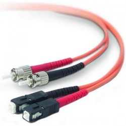 Belkin - A2F20207-10M - Belkin Fiber Optic Duplex Patch Cable - ST Male - SC Male - 32.81ft - Orange