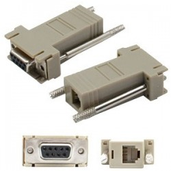 AddOn - DB9F2RJ12M - AddOn DB-9 to RJ-12 Female to Male Gray Adapter - 100% compatible and guaranteed to work