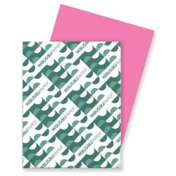 Wausau Papers - 21041 - Color Cardstock, 65lb, 8 1/2 x 11, Pulsar Pink, 250 Sheets