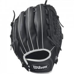 Wilson Sports - WTA03RB1711 - Wilson A360 11 Utility Baseball Glove - Right Hand Throw - Corset Web - Pigskin Leather - Black - Hook & Loop Strap - For Baseball