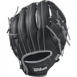 Wilson Sports - WTA03RB1712 - Wilson A360 12 Utility Baseball Glove - Right Hand Throw - Closed Web - Pigskin Leather - Black - Hook & Loop Strap, Open Back - For Baseball