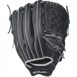 Wilson Sports - WTA03RB17125 - Wilson A360 12.5 Utility Baseball Glove - Right Hand Throw - 12.5 Size Number - Closed Web - Black, Gold - Hook & Loop Strap - For Baseball