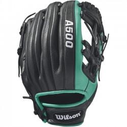 Wilson Sports - WTA05RB17115 - Wilson A500 Robinson Cano 11.5 Baseball Glove - Right Hand Throw - Top Grain Leather Shell - Mariner's Green, Black - Dual Welting, Durable, Flexible