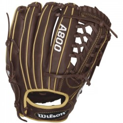Wilson Sports - WTA08RB161175 - Wilson Showtime 1175 Infield Baseball Glove - 11.75 Size Number - T-Web - Leather - Brown, Blonde - Low Profile Heel, Dual Welting - For Baseball - 1 Each