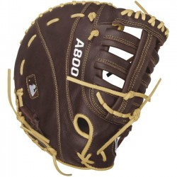 Wilson Sports - WTA08RB16BM12 - Wilson Showtime Adult 12 First Base Mitt - Single Post Web - Leather - Dark Brown, Blonde - Low Profile Heel - For Baseball
