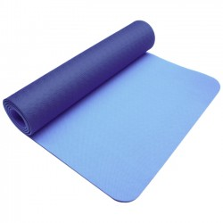 Trimax Sports - WTE10333NB/LB - PurEarth 2 Eco WTE10333 Ultimate Mat - Gym - 68 Length x 24 Width x 0.12 Thickness - Thermoplastic Elastomer (TPE) - Navy Blue, Light Blue