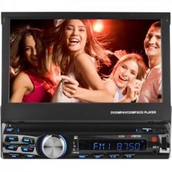 Ematic - X358 - XO Vision X358 Car DVD Player - 7 Touchscreen LCD - 4 Channels - DVD-R, CD-R - DVD Video, MP4, Video CD - CD-DA, MP3 - AM, FM - SD - Bluetooth - USB - Auxiliary Input - In-dash