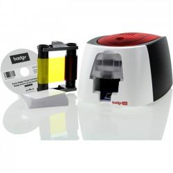 Evolis - B12U0000RS - Evolis Badgy100 Plastic ID Card Solution - 40 Card Feeder, 40 Card Output Hopper - 16 Second Mono - 45 Second Color - 300 dpi - 16 MB - USB - PVC Card, Plastic Card