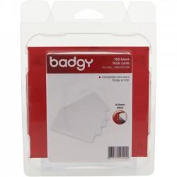 Evolis - CBGC0030W - Evolis Badgy Thick PVC Plastic Cards - Printable - 100 - Polyvinyl Chloride (PVC)