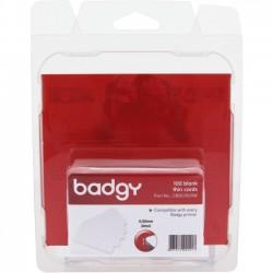 Evolis - CBGC0020W - Evolis Badgy Thin PVC Plastic Cards - Printable - 100 - Polyvinyl Chloride (PVC)