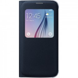 Samsung - EF-CG920PBEGUS - Samsung S-View Carrying Case (Flip) for Smartphone - Black Sapphire - Polyurethane Leather