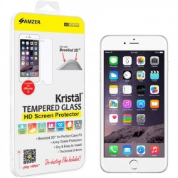 Amzer - AMZ97301 - Amzer Kristal Tempered Glass HD Screen Protector for iPhone 6 Transparent - iPhone